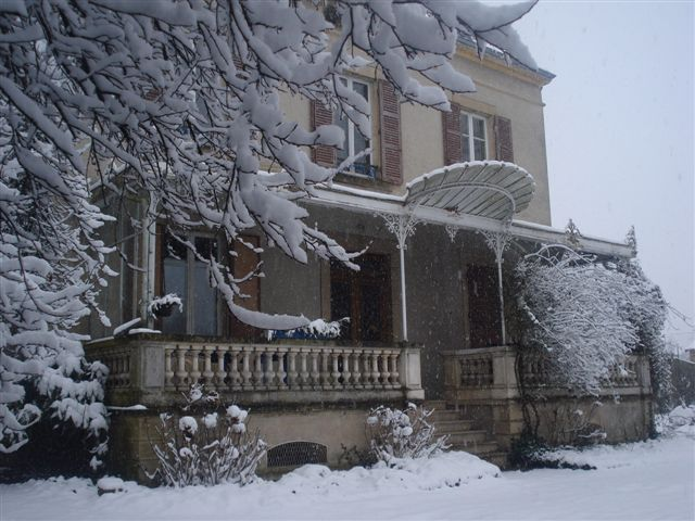 Le Clos du Sornin sous la neige
