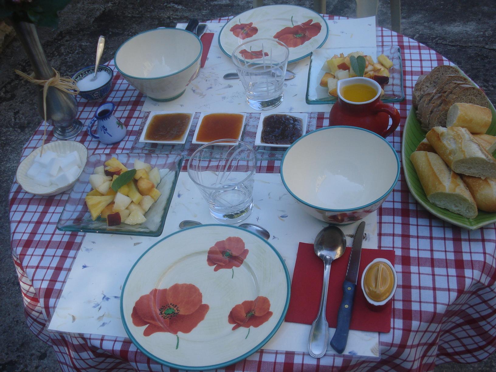 petit-déjeuner d`été